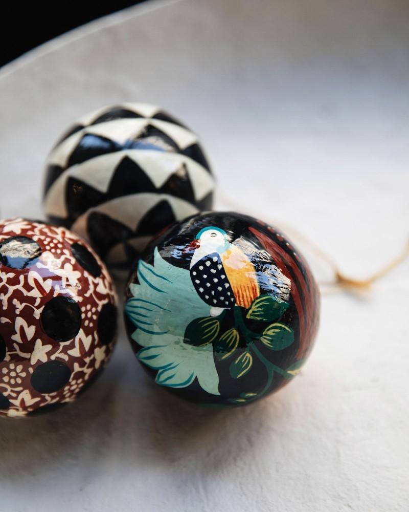 Trio boules décoratives - Matriochka