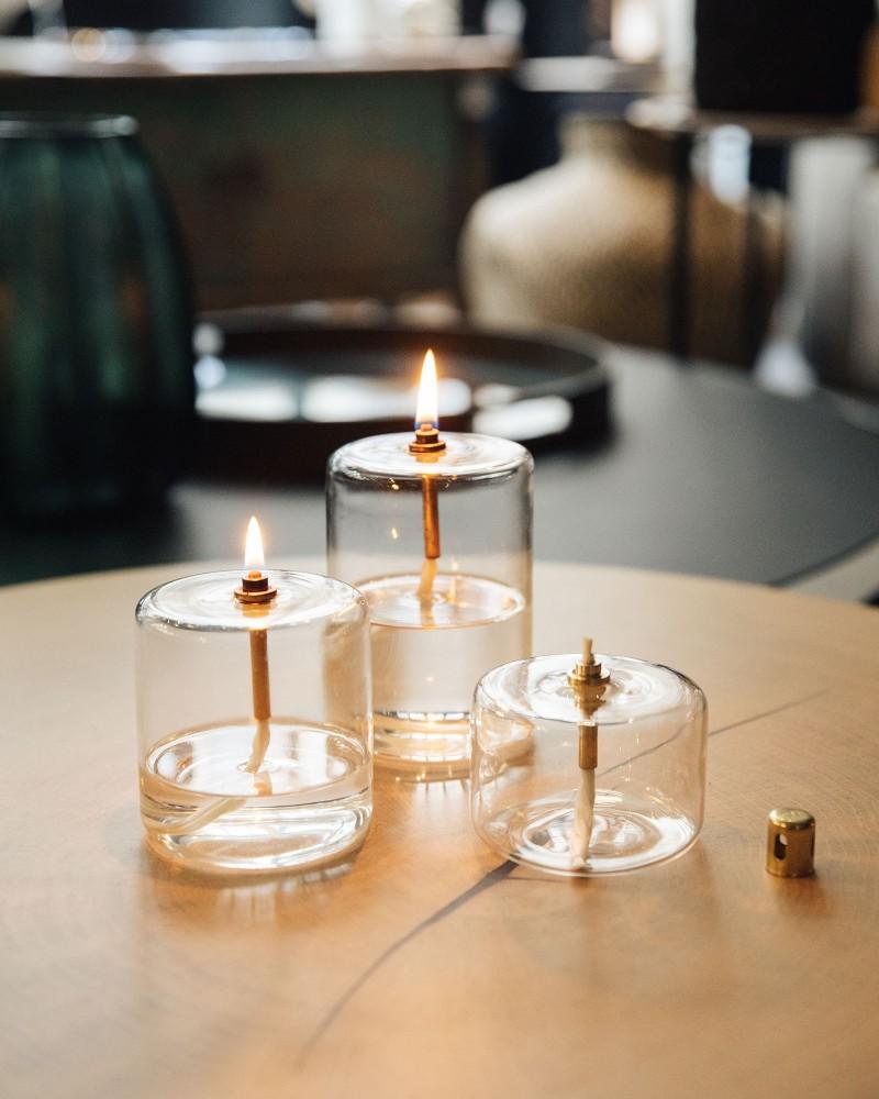 Lampe à huile - Cylindre - Moyen modèle