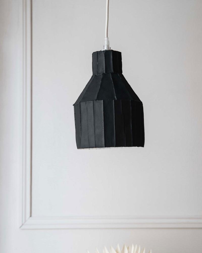 "Suspension  ""Paper clay"" - Noir - Small"