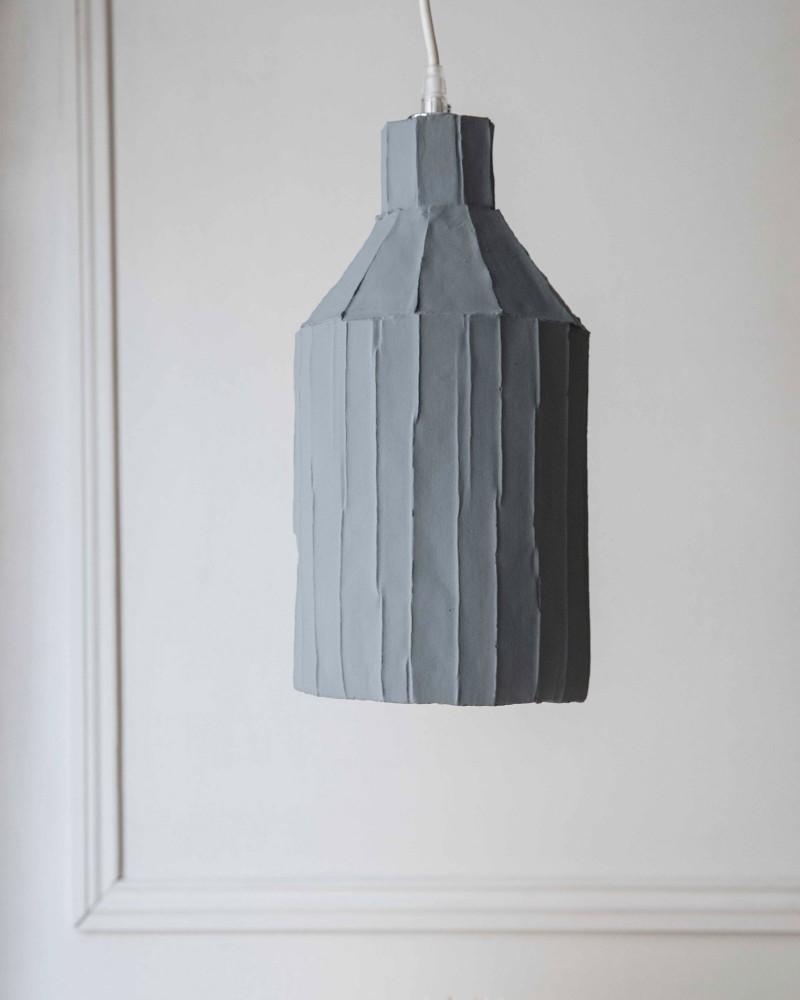 "Suspension  ""Paper clay"" - Gris - Large"