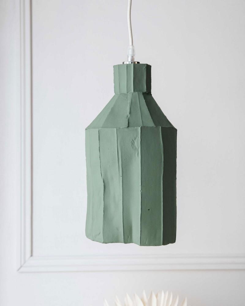 """Suspension  """"Paper clay"""" - Vert d'eau - Large"""
