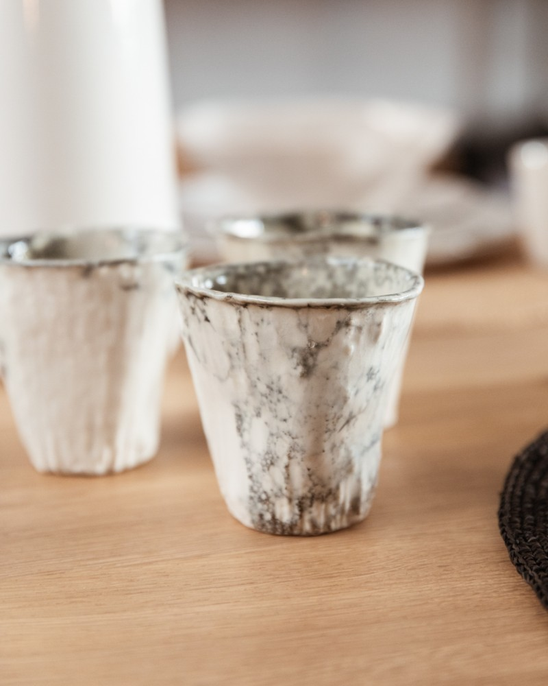 Tasse -  Effet bulles grises